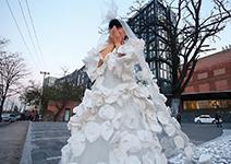 「新娘」捂嘴吶喊:我要嫁給藍天!