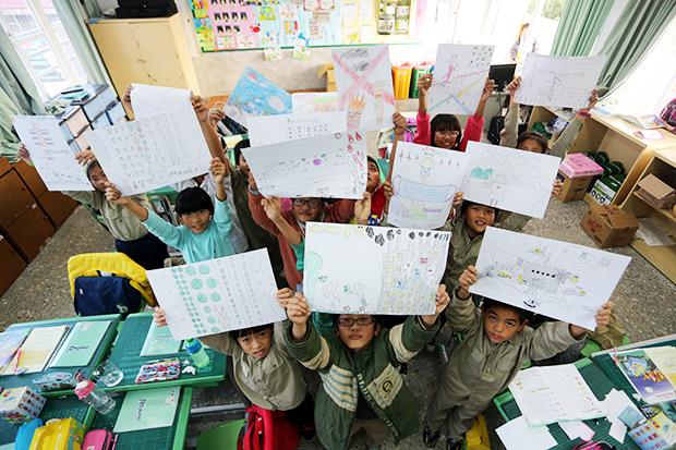 學童手繪家園:希望西瓜快快長大!