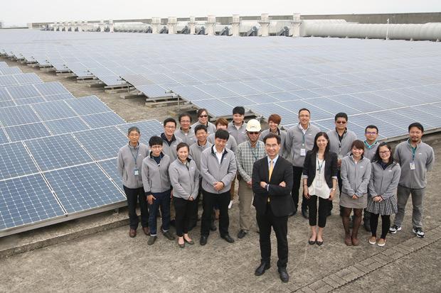 自家屋頂蓋太陽能廠  綠電融入企業DNA