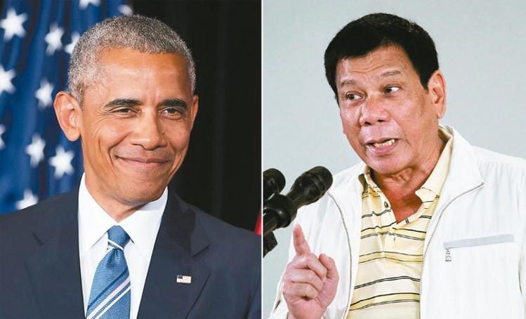 歐巴馬管太多?菲律賓總統杜特蒂爆粗口