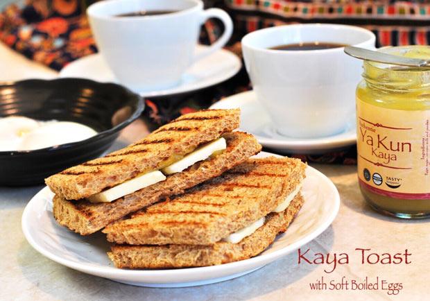 新加坡經典早餐:咖椰吐司與溫泉蛋