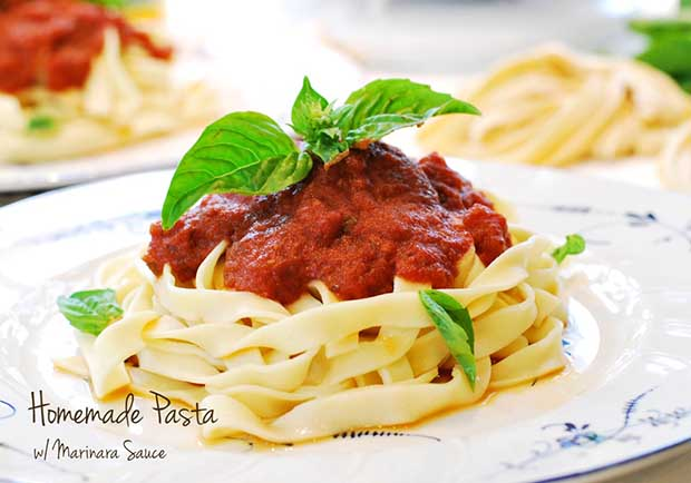 義大利媽媽經典:手工義大利麵佐蕃茄羅勒醬