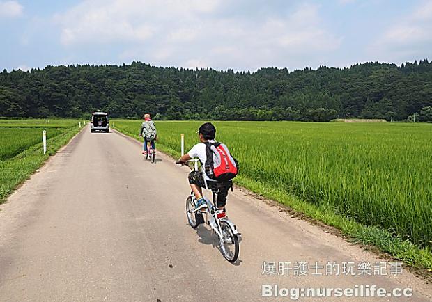 秋田五城目町里山自行車之旅!穿梭田間享受大自然野餐趣
