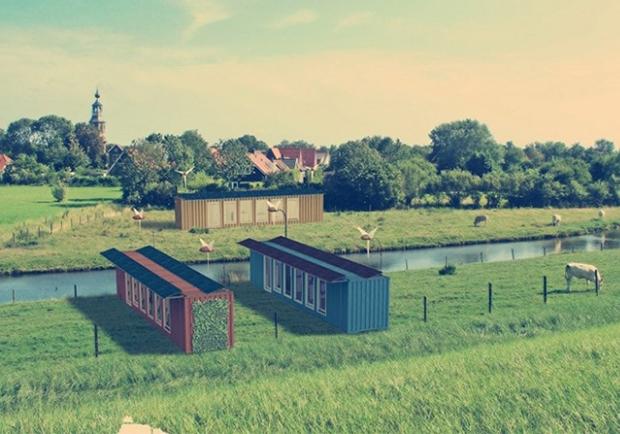 許我們一間住得起的房子吧!阿姆斯特丹獨立貨櫃環保宅