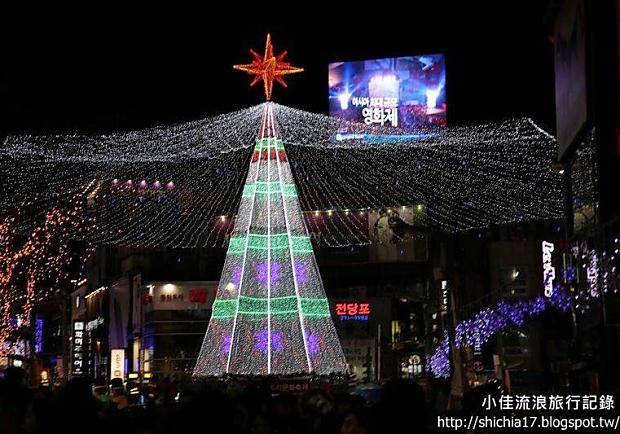 點綴夜晚的美麗繽紛!到韓國釜山「聖誕樹文化節」來過聖誕吧