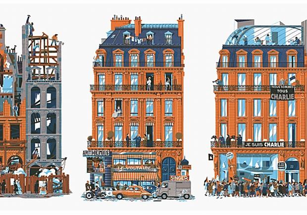 一點一滴的城市變化!一棟大樓讓你看盡巴黎750年的城市變遷!