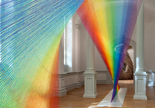 玩美視覺遊戲!Gabriel Dawe徒手打造永不消失的彩虹世界