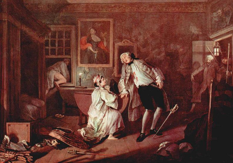 被兇刃斃命的伯爵—這幅畫促成今日著作權法的原型