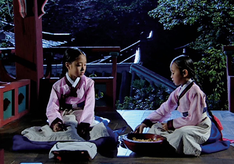 朝鮮王朝中烹煮食物的御膳房宮女們