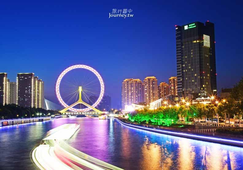 世界唯一的橋上摩天輪 天津之眼