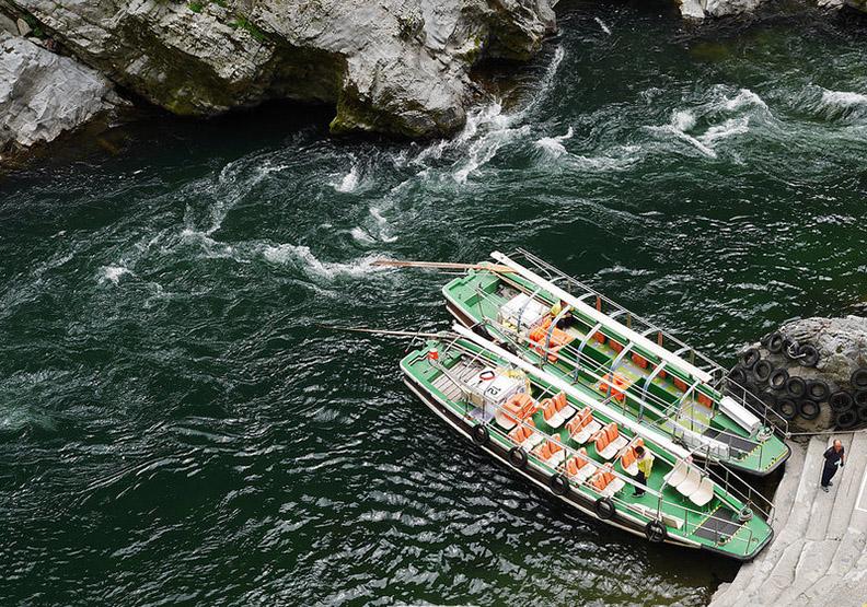 大步危:日本四國最大溪流峽谷泛舟