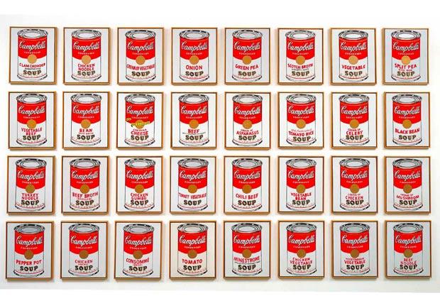 就要千篇一律 安迪.沃荷的康寶濃湯罐