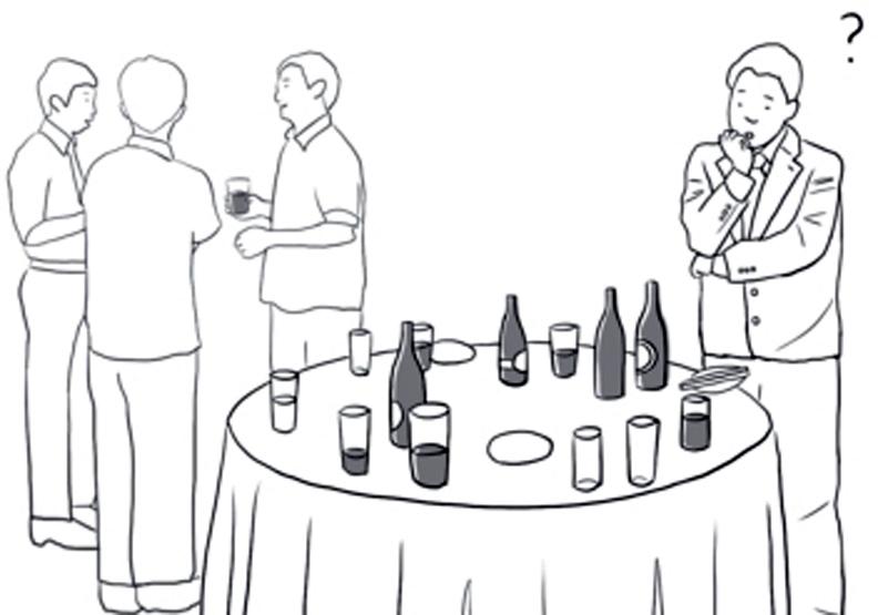 在酒會裡不再搞丟自己的酒杯