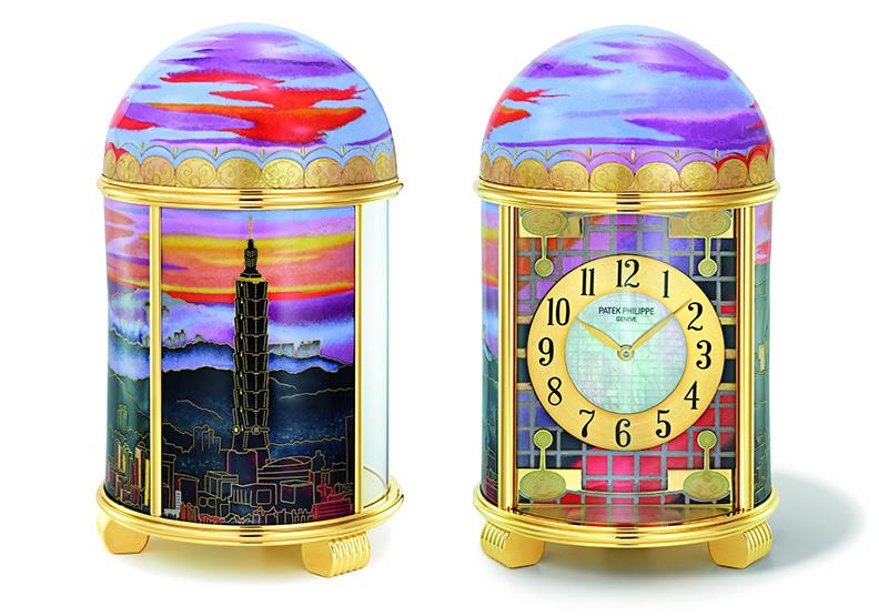 台北天空引人無限遐想!頂級名錶以金線琺瑯描繪天際的絢麗色彩