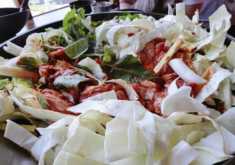 韓國美食無敵好吃的「正統春川達卡比」