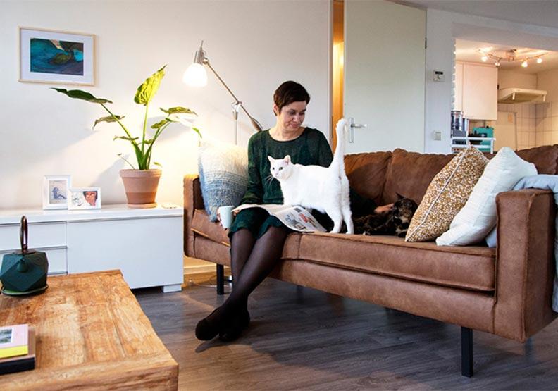 超幸福單身住所:Astra與兩隻貓的荷蘭生活