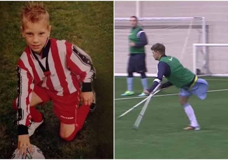 只有一隻腿的足球選手!他不願輸給逆境的勇氣