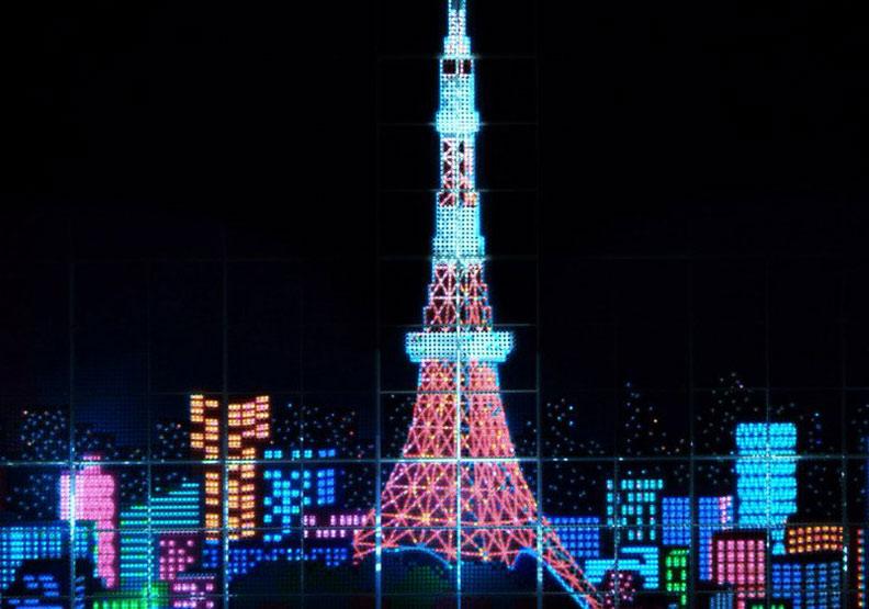 用3.7萬支原子筆+LED建東京鐵塔!Muji送巴黎的聖誕禮