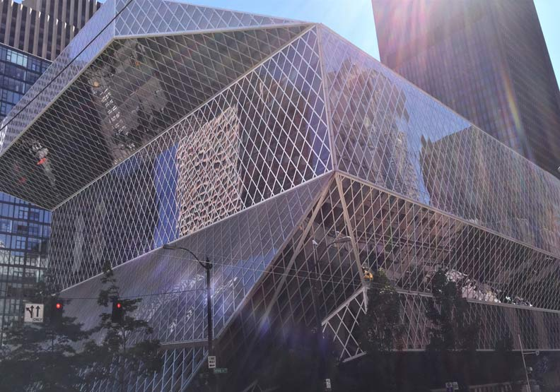 炫目吸睛的西雅圖中央圖書館