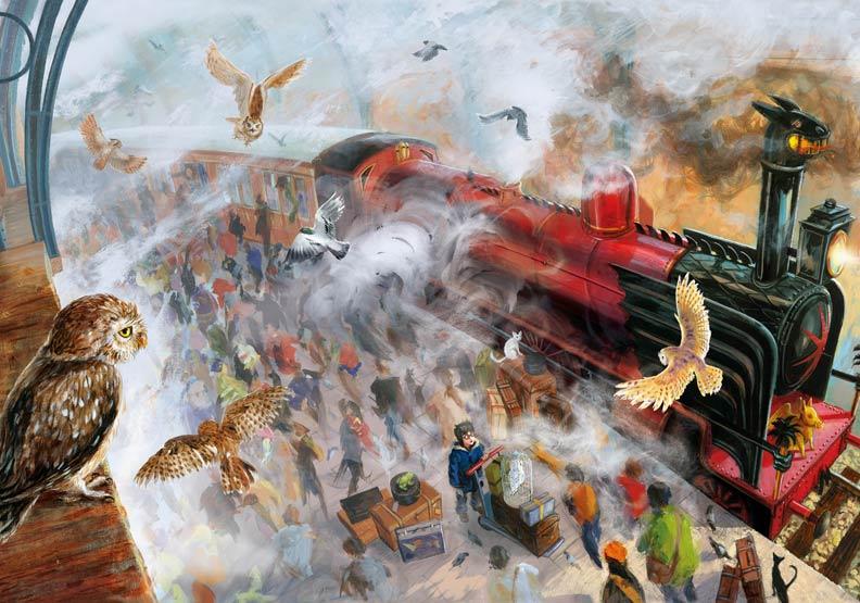 霍格華茲特快車!是他畫出了哈利波特封面