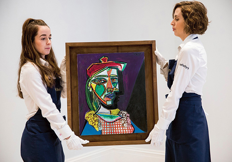 一幅畫看透畢卡索的情感糾葛 《戴貝雷帽、穿格子裙的女子》首度登上拍場