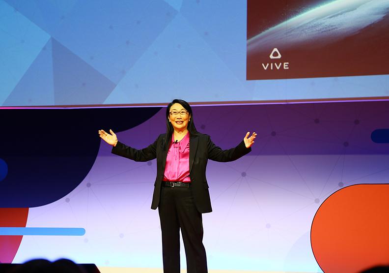 王雪紅MWC登台 擘劃虛擬實境大未來