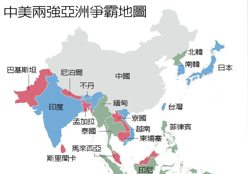 紐時:一張地圖看懂中國正挑戰美國亞洲霸權
