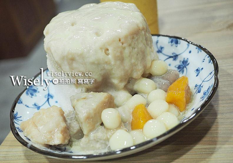 台北。冰雪糖冰舖︱超級芋頭牛奶冰(熔岩芋泥),近捷運龍山寺站與萬華車站