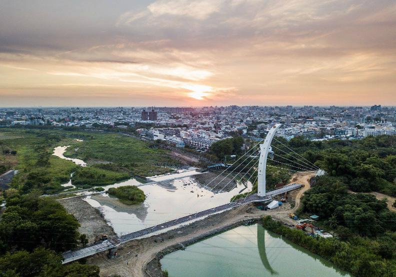「八掌溪人行景觀橋」將重現「鷺橋觀浪」之景