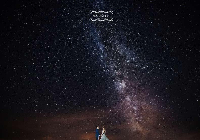 美翻了!香港新人圓銀河婚紗夢 地點竟在台灣