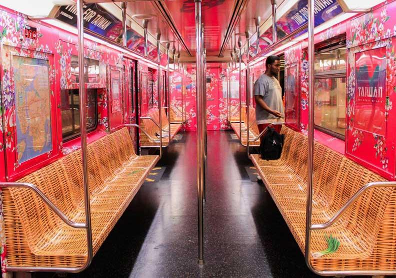 最幸福奔放的台灣味 向紐約地鐵乘客打招呼!