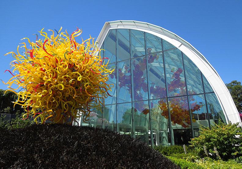 西雅圖最重要的景點之一,驚豔視覺的玻璃花園