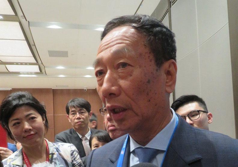 郭台銘挺韓總:台北不要,兩年後移師高雄