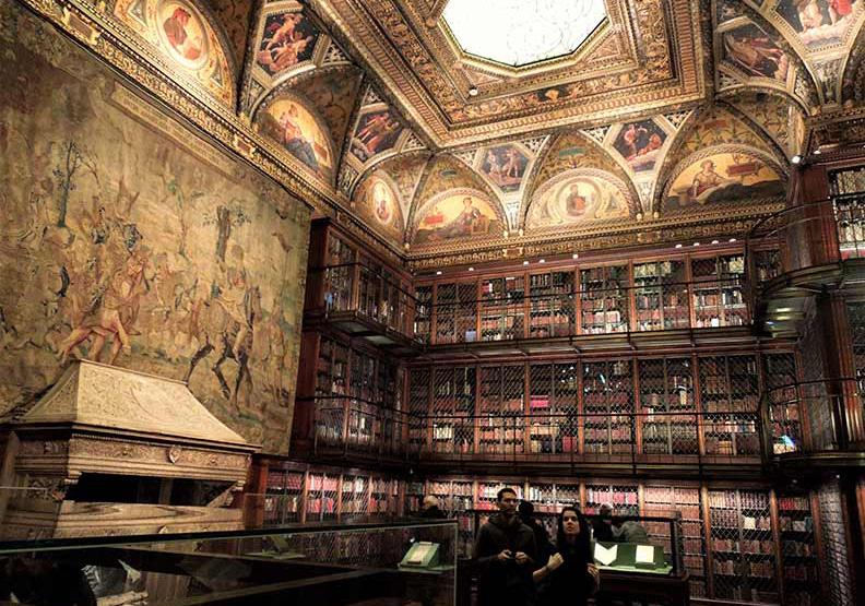 紐約私房景點!大富翁的華麗圖書館