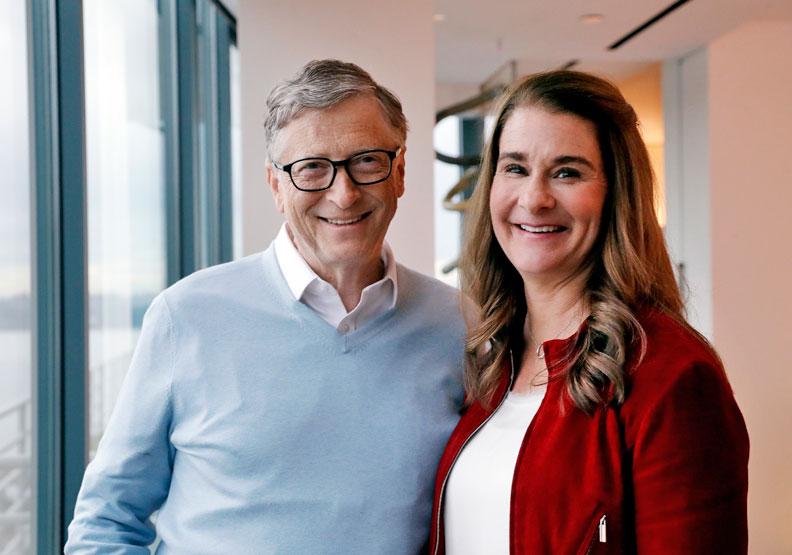 改變世界不靠財富 比爾蓋茲夫婦獲全球50大領導人榜首