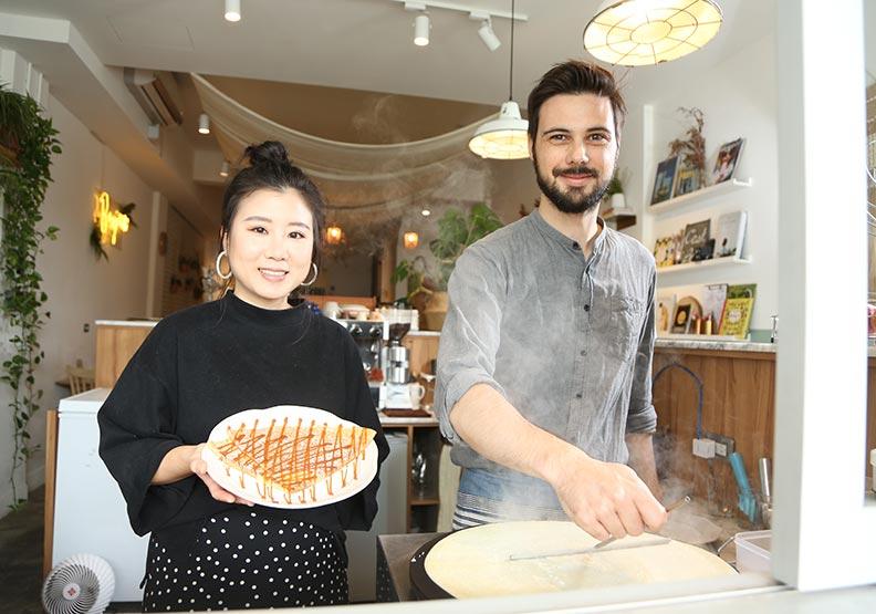 管穎發揮日式待客之道  讓法式可麗餅飄香花蓮街頭
