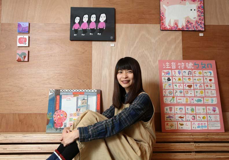 非美術科班的她,憑「小學生風格插畫」在東京辦兩次個展