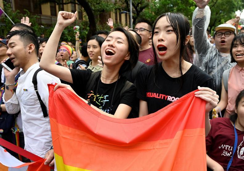 彩虹旗飄揚!台灣是亞洲第一個同婚合法化的國家
