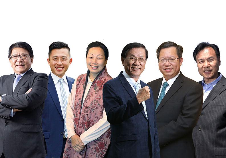 六位5星縣市長:鄭文燦、林智堅、林明溱、潘孟安、徐榛蔚、劉增應