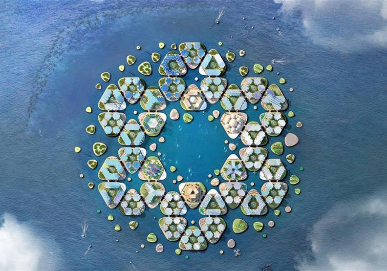萬人水上生活圈!與海和平共存的都市設計方案