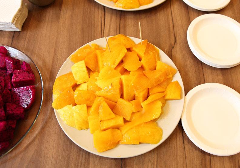 芒果有許多膳食纖維;董旭官攝。