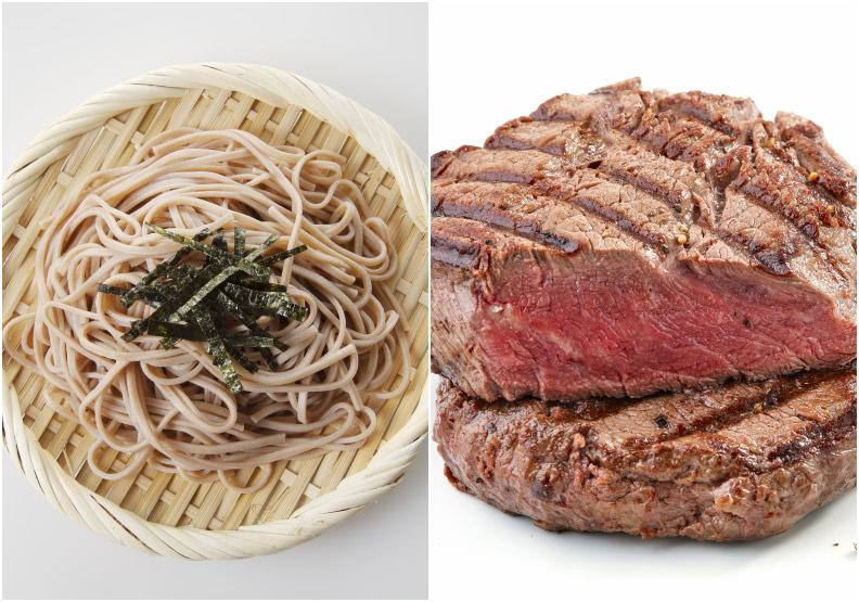 減醣飲食大PK:低熱量蕎麥麵竟完敗牛排?!