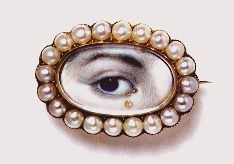 18世紀英國風靡一時!「眼睛肖像」最深情的意涵