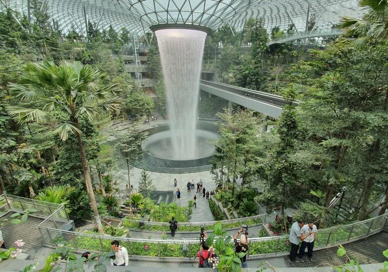 樟宜機場是東南亞的交通樞紐。