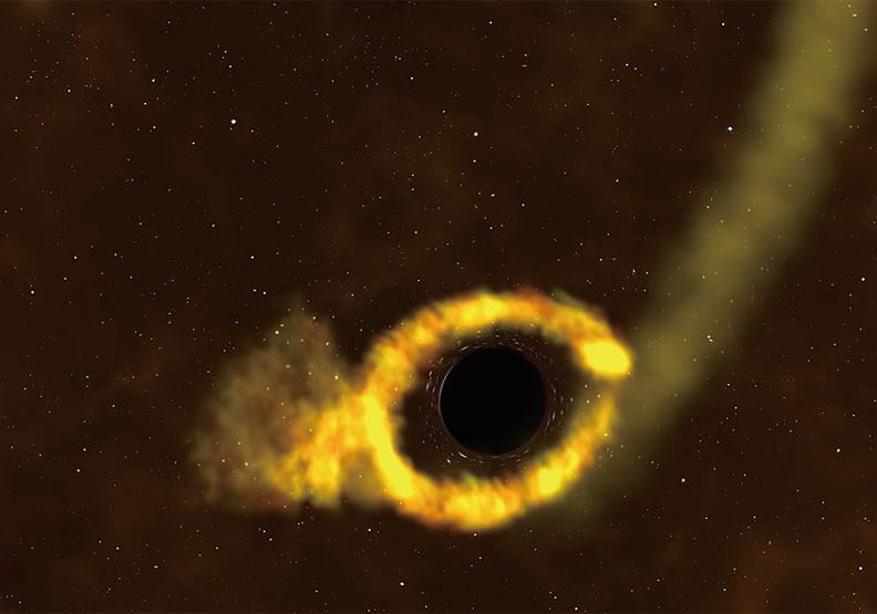 10萬年難得一見天文奇觀!NASA公布黑洞撕碎恆星罕見畫面