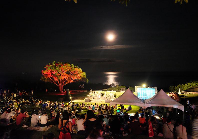 美景藝術凝聚幸福感 月光海音樂會照亮台東