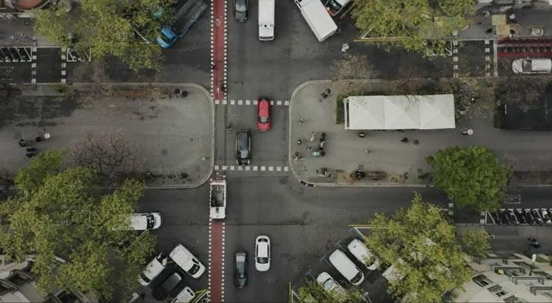 巴塞隆納的超級街區。截圖自BBC影片