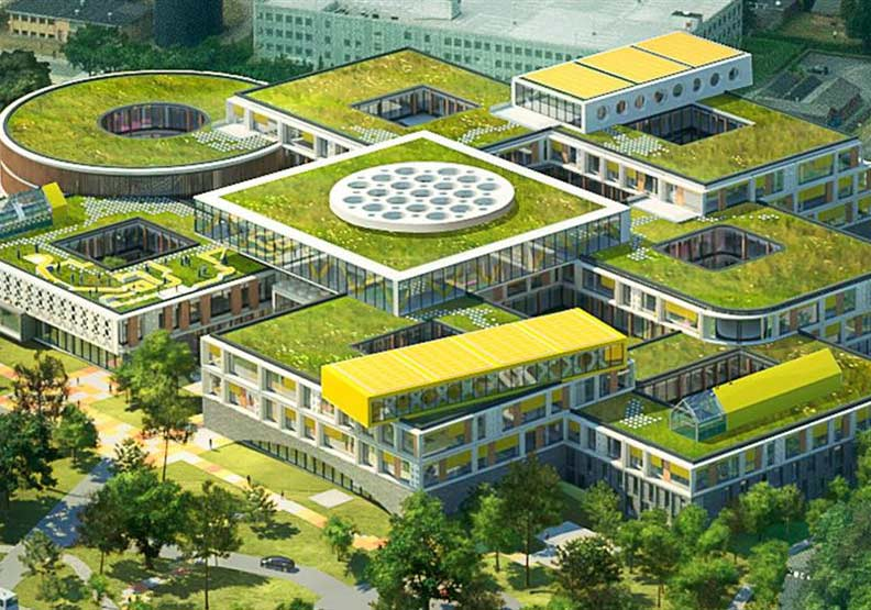 巨大黃磚懸掛屋頂、凸起積木外牆!丹麥「LEGO全新總部」啟用