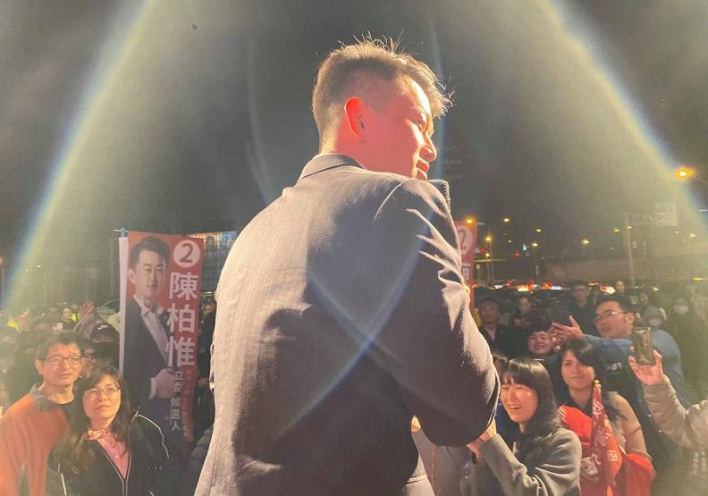 跨區北上、自願挑戰艱困選區的陳柏維,堪稱2020立委選舉最大驚奇。(照片取自陳柏維臉書)