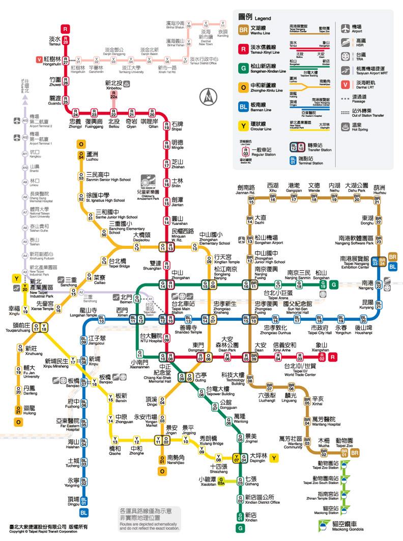 新北環狀線開放試乘,北捷也順勢也更新最新的路線圖。圖片來源:台北捷運局